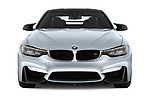 Car photography straight front view of a 2018 BMW M4 Base 2 Door Coupe