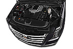 Car Stock 2015 Cadillac Escalade Premium 5 Door SUV 2WD Engine high angle detail view