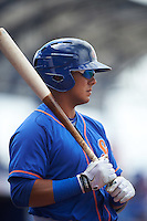 St. Lucie Mets second baseman Phillip Evans (28) during a game against the Brevard County Manatees on April 17, 2016 at Tradition Field in Port St. Lucie, Florida.  Brevard County defeated St. Lucie 13-0.  (Mike Janes/Four Seam Images)