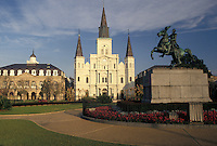New Orleans, Saint Louis Cathedral, French Quarter, Louisiana, LA, St. Louis Cathedral in Jackson Square in the French Quarter of New Orleans.