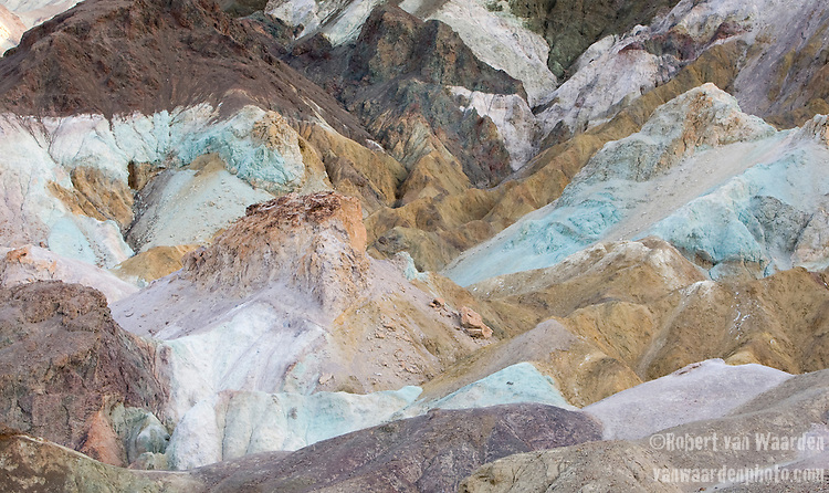 The many colors of the artist's palette in Death Valley, California