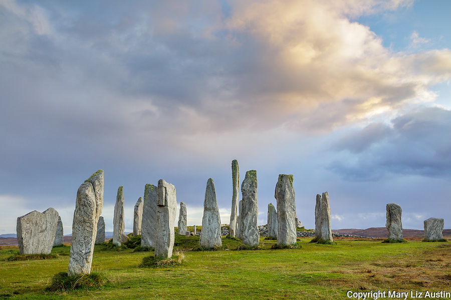 Isle of Lewis and Harris, Scotland: Evening light at the Callanish Standing Stones