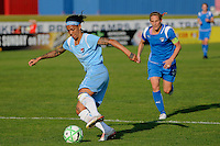 Natasha Kai (6) of Sky Blue FC. Sky Blue FC defeated the Boston Breakers 2-1 during a Women's Professional Soccer match at Yurcak Field in Piscataway, NJ, on May 31, 2009.