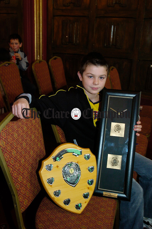 Mark Bohannon, crowned the Clare Young Environmentalist of the Year at the Schools Environmental Awards presentation 2005. Photograph by John Kelly.