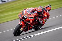 28th August 2021; Silverstone Circuit, Silverstone, Northamptonshire, England; MotoGP British Grand Prix, Qualifying Day; Ducati Lenovo Team rider Francesco Bagnaia on his Ducati Desmosedici GP21