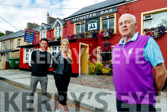 Billy and Dawn Dennehy and John O'Sullivan at the Munster bar in Tralee.