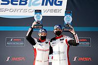 #54: MLT Motorsports Ligier JS P320, P3-1: Dakota Dickerson, Josh Sarchet, podium