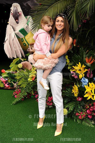 """Luisa Zissman and daughter<br /> arives for the """"Rio 2"""" Screening at the Vue cinema Leicester Square, London. 30/03/2014 Picture by: Steve Vas / Featureflash"""