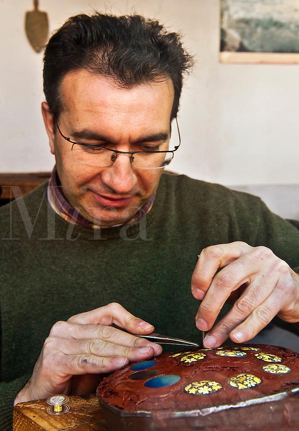 Jewlery artisan, Toledo, Spain