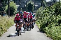 peloton led by Fumiyuki Beppu (JPN/EF Education - Nippo)<br /> <br /> 17th Benelux Tour 2021<br /> Stage 5 from Riemst to Bilzen (BEL/192km)<br /> <br /> ©kramon