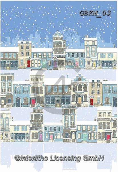 Kate, CHRISTMAS LANDSCAPES, WEIHNACHTEN WINTERLANDSCHAFTEN, NAVIDAD PAISAJES DE INVIERNO, paintings+++++London in the snow 2,GBKM03,#XL#
