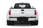 Straight rear view of a 2015 Ford F-350 Super Duty XL 4x4 SuperCab 158-In DRW 2 Door pickup Rear View  stock images
