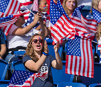 PARIS,  - JUNE 16: Fans cheer during a game between Chile and USWNT at Parc des Princes on June 16, 2019 in Paris, France.