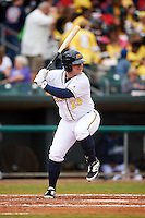 Montgomery Biscuits catcher Jake DePew (23) at bat during a game against the Jackson Generals on April 29, 2015 at Riverwalk Stadium in Montgomery, Alabama.  Jackson defeated Montgomery 4-3.  (Mike Janes/Four Seam Images)