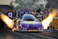 Jul, 8, 2011; Joliet, IL, USA: NHRA funny car driver Ron Capps during qualifying for the Route 66 Nationals at Route 66 Raceway. Mandatory Credit: Mark J. Rebilas-