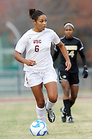 USC's Lauren Brown. USC defeated Missouri 1-0 in overtime of an NCAA tournament women's soccer second round match at Walton Stadium in Columbia, Missouri on November 18, 2007.