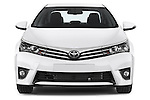 Car photography straight front view of a 2014 Toyota Corolla Comfort 4 Door Sedan 2WD Front View
