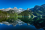 Italien, Suedtirol, Antholzer Tal, Seitental des Pustertals, Biotop Antholzer See im Naturpark Rieserferner-Ahrn | Italy, South Tyrol (Trentino - Alto Adige), Valle di Anterselva, biotope Lago di Anterselva at Rieserferner-Ahrn Nature Park