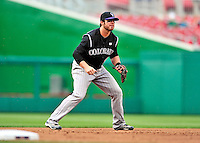 22 April 2010: Colorado Rockies' third baseman Ian Stewart in action during a game against the Washington Nationals at Nationals Park in Washington, DC. The Rockies shut out the Nationals 2-0 gaining a 2-2 series split. Mandatory Credit: Ed Wolfstein Photo