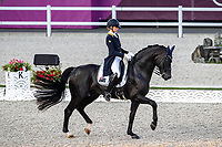 AUS-Simone Pearce rides Destano during the Dressage Grand Prix Team and Individual Qualifier Day 2 at the Equestrian Park. Tokyo 2020 Olympic Games. Sunday 25 July 2021. Copyright Photo: Libby Law Photography