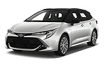 2019 Toyota Corolla-TS-hybrid Style 5 Door Wagon Angular Front stock photos of front three quarter view