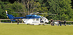 23 May 09:  Rider Padge Whelan is taken to a medical air ambulance after a spill in the Valentine memorial Sport of Queen's Stakes at the Fair Hill Steeplechase Races in Maryland