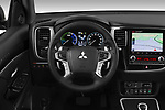 Car pictures of steering wheel view of a 2020 Mitsubishi Outlander-PHEV Instyle 5 Door SUV Steering Wheel