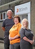 Pictured L-R: Graham Randall, Margaret Jenkins and Jillian Miggins. Thursday 10 August 2017<br />