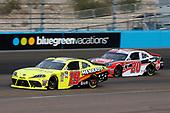 #19: Brandon Jones, Joe Gibbs Racing, Toyota Supra Menards/SoleusAir #20: Christopher Bell, Joe Gibbs Racing, Toyota Supra Rheem