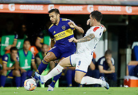 "BUENOS AIRES-ARGENTINA, 10-03-2020: Eduardo Salvio de Boca Juniors y Adrian Arregui of de Deportivo Independiente Medellin disputan el balon durante partido de la fase de grupos, grupo H, fecha 2, entre Boca Juniors (ARG) y Deportivo Independiente Medellin (COL) por la Copa Conmebol Libertadores 2020, en el estadio Alberto Jose Armando ""La Bombonera"", de la ciudad Ciudad Autonoma de Buenos Aires. / Eduardo Salvio of Boca Juniors and Adrian Arregui of Deportivo Independiente Medellin vie for the ball during a match of the groups phase, group H, 2nd date, between Boca Juniors (ARG) of Deportivo Independiente Medellin (COL) for the Conmebol Libertadores Cup 2020, at the Alberto Jose Armando ""La Bombonera"", in Ciudad Autonoma de Buenos Aires. VizzorImage / Javier Garcia Martino / Photogamma / Cont."