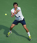 Ivan Dodig (CRO) loses to Rafael Nadal (ESP) 6-4, 6-3, 6-3 at the US Open being played at USTA Billie Jean King National Tennis Center in Flushing, NY on August 31, 2013