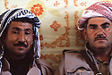 Iran 1979.Portrait of two peshmerga in Ziweh; right, Aref Yassin  Iran 1979 Portrait de 2 peshmergas dans le camp de Ziwa