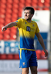St Johnstone v Brechin City…10.10.20   McDiarmid Park  Betfred Cup<br />Callum Booth<br />Picture by Graeme Hart.<br />Copyright Perthshire Picture Agency<br />Tel: 01738 623350  Mobile: 07990 594431