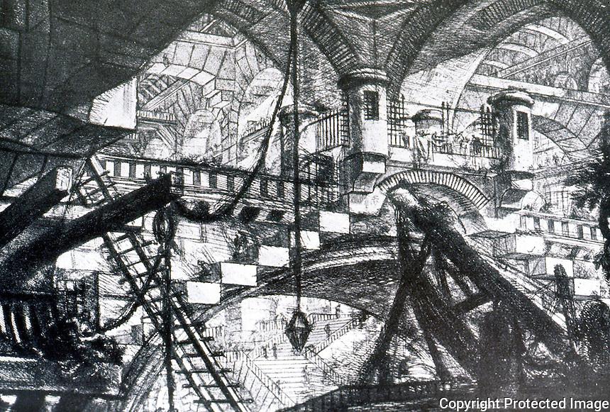 G.B. Piranesi:  Imaginary Prison--The Arch with a Shell Ornament. Photo '77.