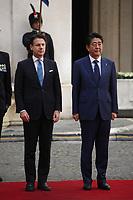 S.E. Shinzo Abe and Giuseppe Conte<br /> Rome April 24th 2019. Palazzo Chigi. Italian Prime Minister meets the Prime Minister of Japan.<br /> Photo di Insidefoto