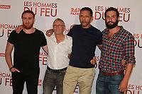 MICHAEL ABITEBOUL, PIERRE JOLIVET, ROSCHDY ZEM, GUILLAUME LABBE - PREMIERE DU FILM 'LES HOMMES DU FEU', PARIS, FRANCE, 24/06/2017