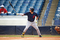 Joe Rizzo (6) Oakton High School in Oak Hill, Virginia playing for the Cleveland Indians scout team during the East Coast Pro Showcase on July 30, 2015 at George M. Steinbrenner Field in Tampa, Florida.  (Mike Janes/Four Seam Images)