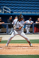 Jackson Generals third baseman Dawel Lugo (31) at bat during a game against the Biloxi Shuckers on April 23, 2017 at MGM Park in Biloxi, Mississippi.  Biloxi defeated Jackson 3-2.  (Mike Janes/Four Seam Images)