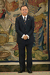 Juan Jesus Vivas, President and Mayor of Ceuta, during an official meeting with King Felipe VI of Spain at Zarzuela Palace in Madrid, Spain. July 21, 2015. (ALTERPHOTOS/Victor Blanco)