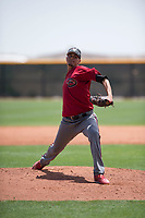 Arizona Diamondbacks relief pitcher Luis Castillo (12) delivers a pitch during an Extended Spring Training game against the Cleveland Indians at the Cleveland Indians Training Complex on May 27, 2018 in Goodyear, Arizona. (Zachary Lucy/Four Seam Images)