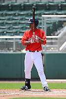 GCL Red Sox shortstop Deiner Lopez (13) during a game against the GCL Twins on July 19, 2013 at JetBlue Park at Fenway South in Fort Myers, Florida.  GCL Red Sox defeated the GCL Twins 4-2.  (Mike Janes/Four Seam Images)