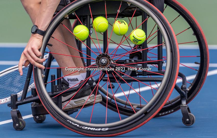 Amstelveen, Netherlands, 7 Augustus, 2021 National Tennis Center, NTC, NKR, National  Wheelchair Tennis Championships, Junior boys single final : <br /> Photo: Henk Koster/tennisimages.com