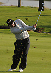 4 October 2008: Jeff Overton watches an approach shot during the third round at the Turning Stone Golf Championship in Verona, New York.