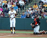 Hunter Bishop - 2019 Arizona State Sun Devils (batting), Adley Rutschman - 2019 Oregon State Beavers (catching)  (Bill Mitchell)