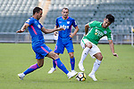 Lee Ka Yiu of Wofoo Tai Po (R) fights for the ball with Kitchee Forward Fernando Azevedo Pedreira (L) during the Hong Kong FA Cup final between Kitchee and Wofoo Tai Po at the Hong Kong Stadium on May 26, 2018 in Hong Kong, Hong Kong. Photo by Marcio Rodrigo Machado / Power Sport Images