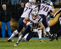 The Carolina Panthers play the New England Patriots at Bank of America Stadium in Charlotte North Carolina on Monday Night Football.  The Panthers defeated the Patriots 24-20.  New England Patriots wide receiver Danny Amendola (80)