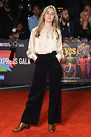 """LONDON, UK. October 08, 2019: Claude Scott-Mitchell arriving for the """"Knives Out"""" screening as part of the London Film Festival 2019 at the Odeon Leicester Square, London.<br /> Picture: Steve Vas/Featureflash"""