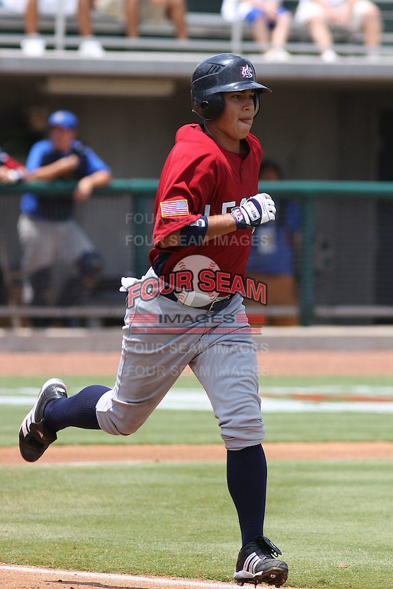 Marco Gonzales of Rocky Mountain High School in Fort Collins, Colorado, at the Tournament of Stars event run by USA Baseball at the USA Baseball National Training Complex in Cary, NC on June 24, 2009. Photo by Robert Gurganus/Four Seam Images