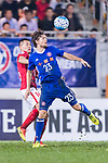 Eastern SC Forward Jaimes Mckee (R) fights for the ball with Guangzhou Midfielder Huang Bowen (L) in action during the AFC Champions League 2017 Group G match between Eastern SC (HKG) vs Guangzhou Evergrande FC (CHN) at the Mongkok Stadium on 25 April 2017, in Hong Kong, China. Photo by Chung Yan Man / Power Sport Images