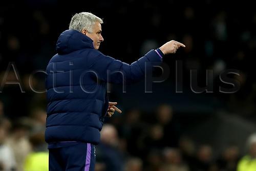 5th February 2020; Tottenham Hotspur Stadium, London, England; English FA Cup Football, Tottenham Hotspur versus Southampton; Tottenham Hotspur Manager Jose Mourinho sends in instructions